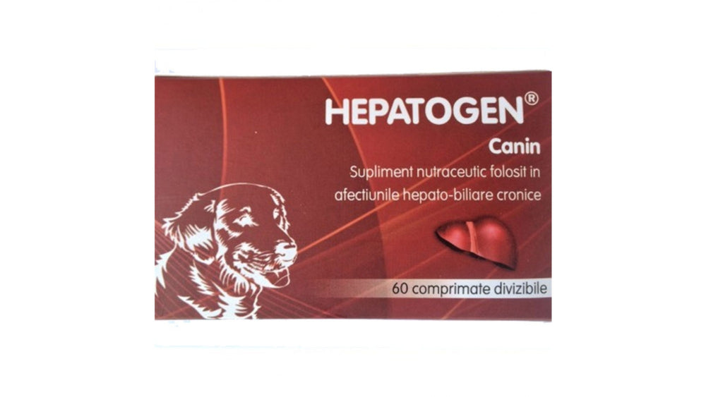 HEPATOGEN Canine, 60 tablets Nutraceutical supplement used in chronic hepato-biliary disorders - Pet Shop Luna SRL