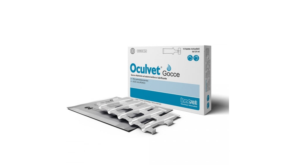 Innovet Oculvet Artificial Tears, 15 x 0.4 ml Ophthalmic drops with soothing and lubricating action. - Pet Shop Luna SRL