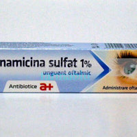 Kanamicina sulfat, 2x 6g , ophthalmic ointment - Pet Shop Luna SRL