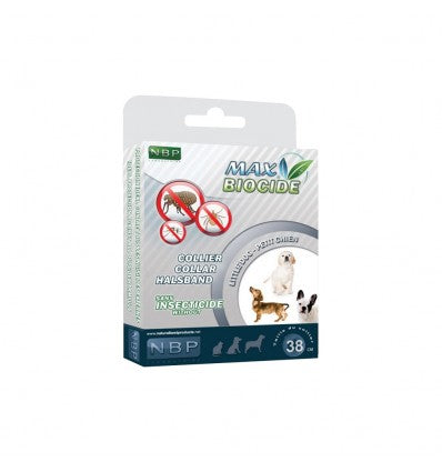MAX BIOCIDE Collar 38 cm for Dogs small Breed against Flea/Tick/Mosquitoes 4 Months Protection / Collare antiparassitario per cani piccoli - Pet Shop Luna SRL