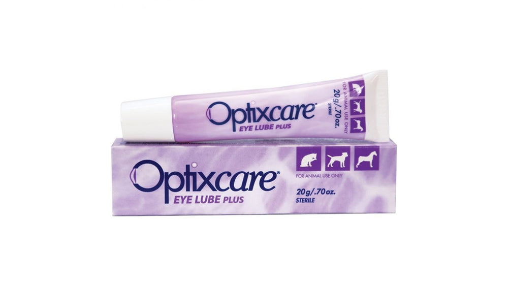 Optixcare EYE LUBE 20g, is a hydrophilic carbomer gel enriched with sodium hyaluronate. cat dog - Pet Shop Luna SRL
