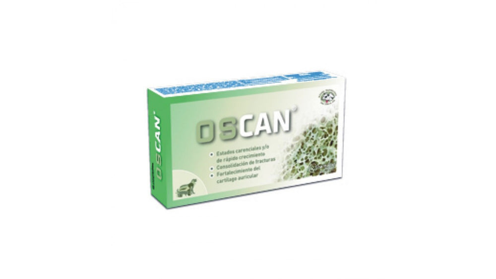 Oscan 60 tablets is a calcium supplement, nutritional for dogs and cats - Pet Shop Luna SRL