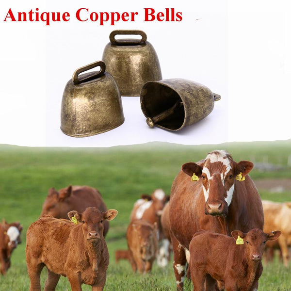 Bells for Cow Cattle Sheep Grazing Copper Bells , Campane per bovini ovini caprini 1pcs / 1 pezzo - Pet Shop Luna SRL