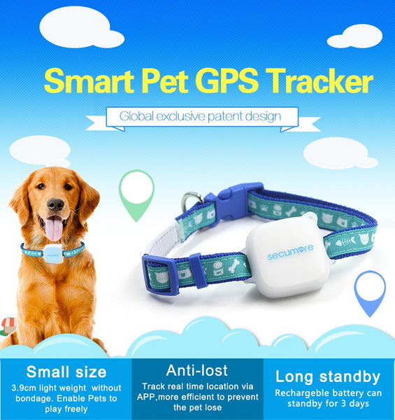 Smart Mini GPS Tracker & Activity Monitor For Dog / Collare per cani con GPS - Pet Shop Luna SRL