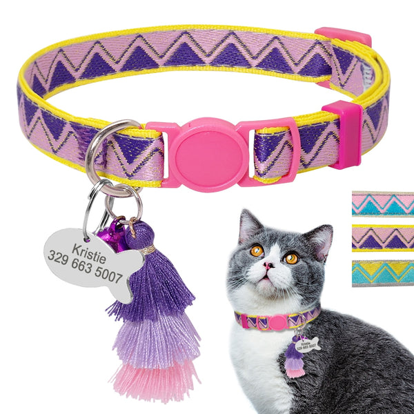 Personalized Cat Collar / Collare per gatti personalizzabile - Pet Shop Luna SRL