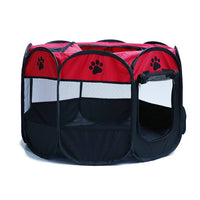 Portable Folding Pet Tent Dog House Cage Dog Cat Tent Playpen Puppy Kennel Easy Operation Octagonal Fence Outdoor Supplies - Pet Shop Luna SRL