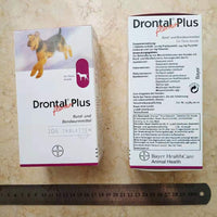 Drontal Plus For Dog 8/32/104 Tablets (Tapeworm Dewormer for Dogs) Vermifugo orale per cani - Pet Shop Luna SRL