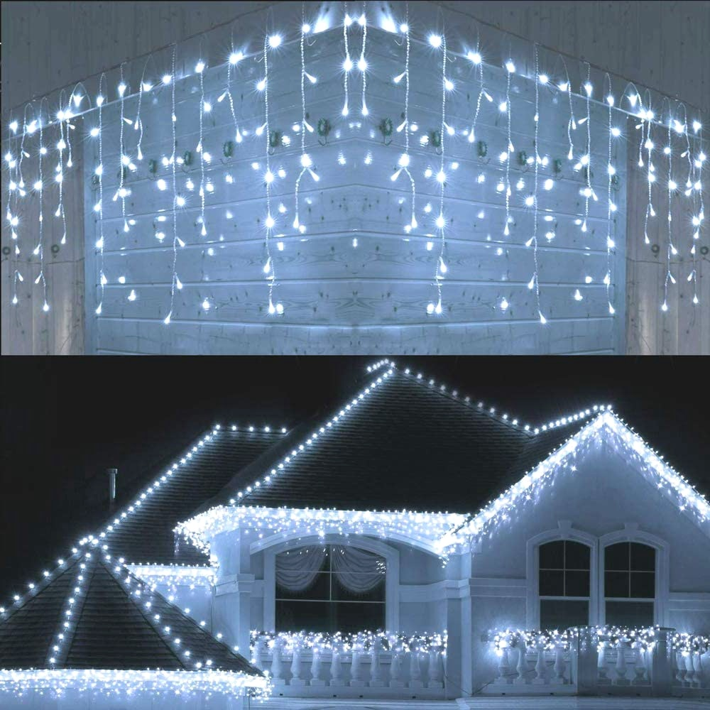 5M Waterproof Outdoor Christmas Light Droop 0.4-0.6m Led Curtain Decorative Lights - Pet Shop Luna SRL