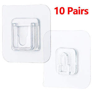 Double-Sided Adhesive Wall Hooks Hanger Strong Hooks Transparent Suction Cup Sucker Wall Storage Holder For Kitchen Bathroo - Pet Shop Luna SRL