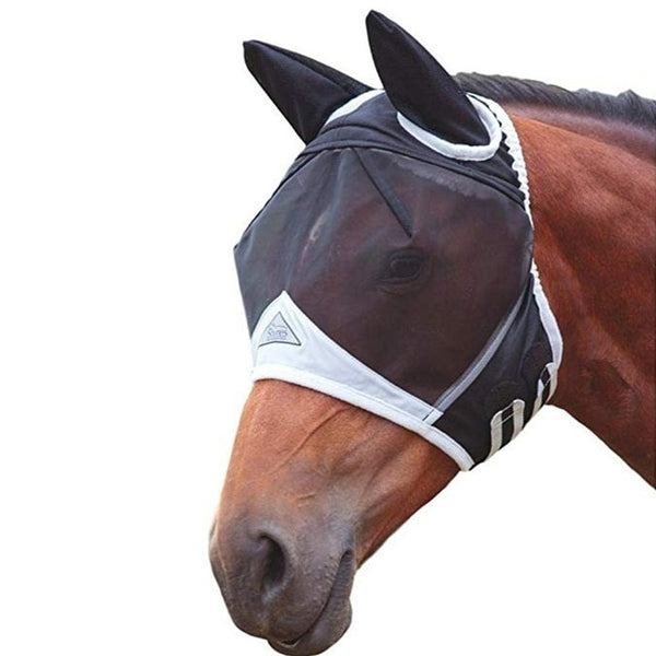Elastic Fly UV-Blocker Ears Eyes Protection For Horse / Maschere anti mosche per cavalli - Pet Shop Luna SRL
