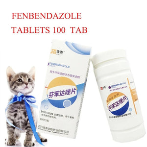 Fenbendazole 100 tablets Dewormer For Dog/cattle/Horse/Poultry - Pet Shop Luna SRL
