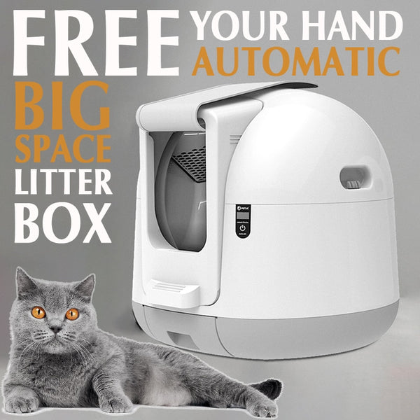 Automatic Closed Cat Litter Box Large Self Cleaning Sand Toilet , Lettiera automatica per gatti - Pet Shop Luna SRL