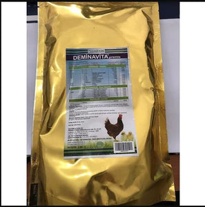 DEMINAVITA PREMİX 1KG MUTLIVITAMINE FOR CHICKEN AND BIRDS , Multivitamini per pollame - Pet Shop Luna SRL