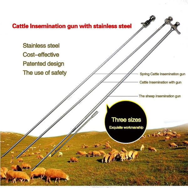 Veterinary Cattle Cow Artificial Insemination Gun Stainless - Pet Shop Luna SRL