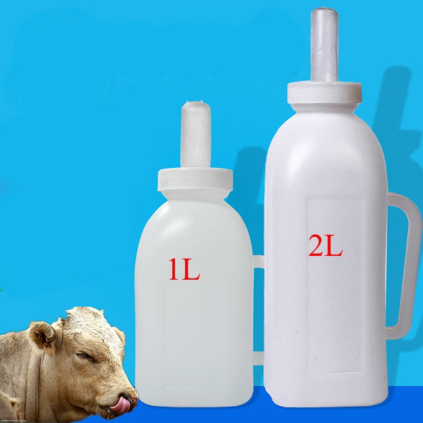 1L/2L Milk Bottle Feeding For Calf Sheep Dog , bottiglia biberon per cani gatti bovini ovini caprini - Pet Shop Luna SRL