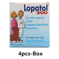 LOPATOL 100/500: Box of 4/6 tablets Oral Wormer Dogs / vermifugo per cani - Pet Shop Luna SRL