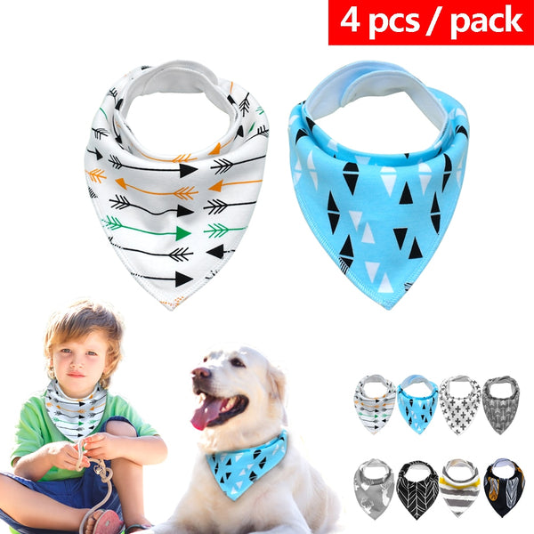 Dog Bandana Puppy Cat 4pcs/lot / Collare / bandana per cani e gatti 4 pezzi - Pet Shop Luna SRL