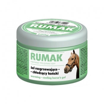 RUMAK Green warming-cooling gel for horses Camphor: antirheumatic, antifebril, antineural, anti-inflammatory / Gel Rilassante per cavalli - Pet Shop Luna SRL