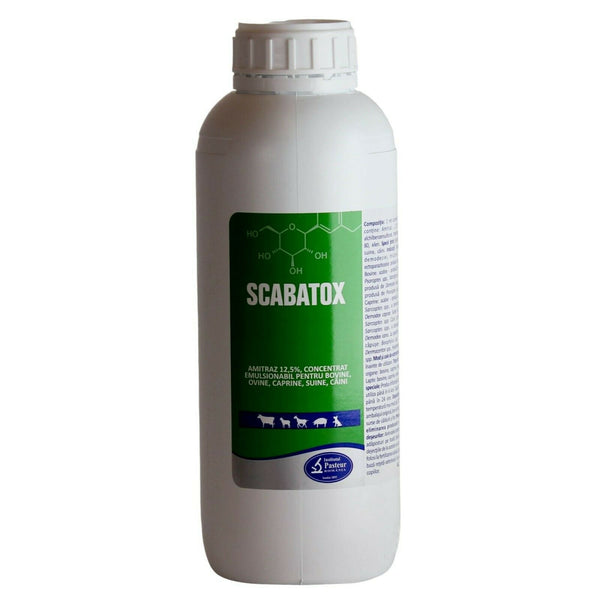 Scabatox AMITRAZ 12.5% External antiparasitic Cattle, sheep, goat, swine, dogs / Antiparassitario esterno - Pet Shop Luna SRL