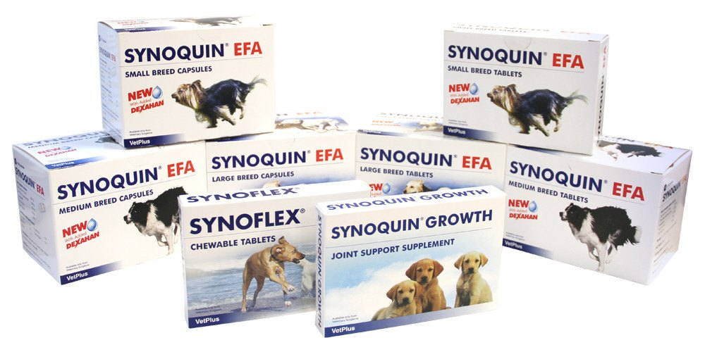 Synoquin EFA for All Breeds is a nutritional supplement to support joints in small dogs. - Pet Shop Luna SRL