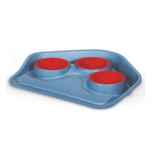 Tray with 3 bowls / Vassoio con 3 ciotole for cats and dogs - Pet Shop Luna SRL