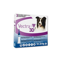 VECTRA 3D per cani (3 pipette) – Antiparassitario Contro pulci, zecche e flebotomi zanzare / VECTRA 3D for dogs (3 pipettes) - Pesticide Against fleas, ticks and sand flies mosquitoes - Pet Shop Luna SRL