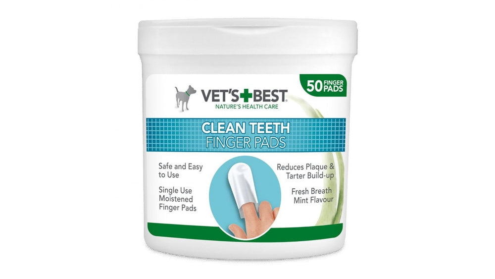 Vet's Best Dental Wipes, 50 pieces Reduces tartar and helps maintain optimal oral hygiene. It tastes like fresh mint. - Pet Shop Luna SRL