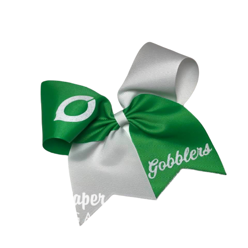 Cheer Bow - Two Color Tick Tock