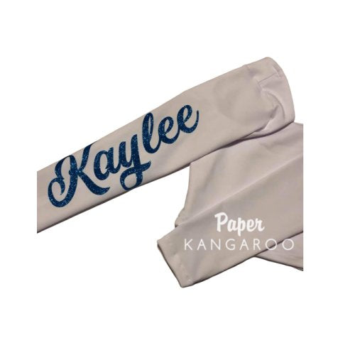 Cheer Sleeves - Solid with Name on Sleeve