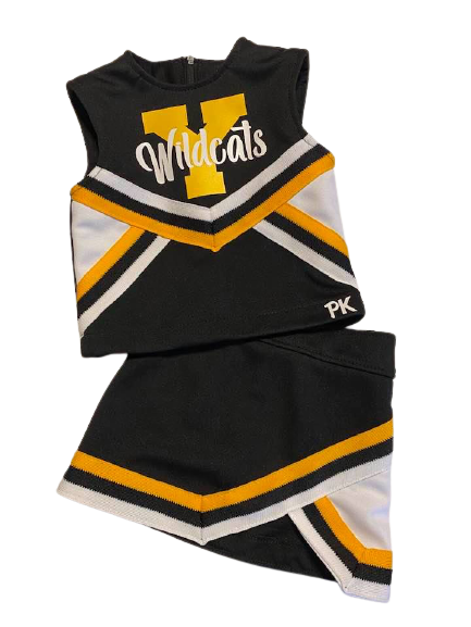 Cheer Uniform - Mascot - Yorktown Wildcats - Ready to Ship