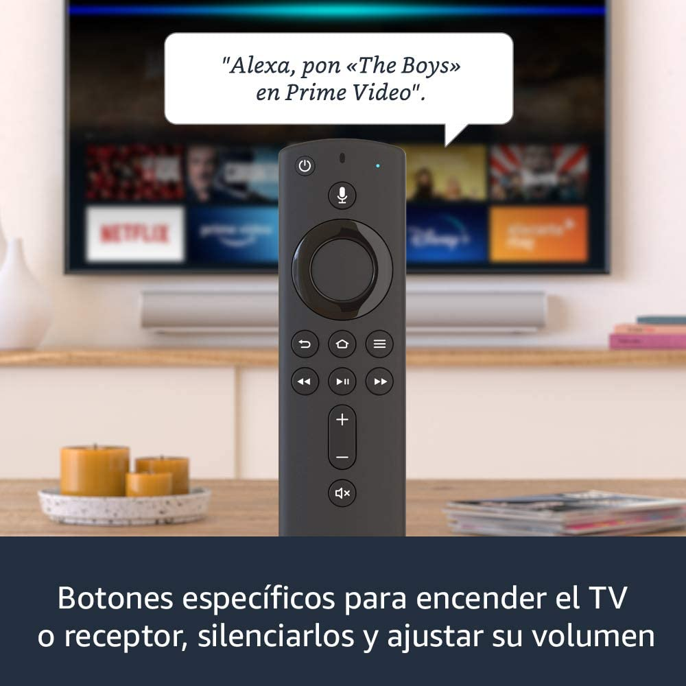 Fire TV Stick con control por voz Alexa (incluye controles para TV) 2020