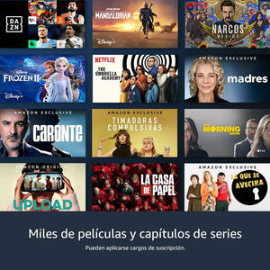Fire TV Stick Lite con control por voz Alexa Streaming (sin controles de TV) 2020
