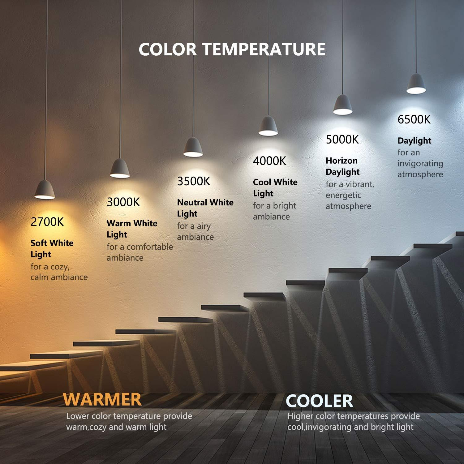 Treatlife Color RGB Paquete de 4 Focos LED Inteligentes WiFi No Requiere Hub Funciona con Alexa & Google Assistant - TecnoMarket