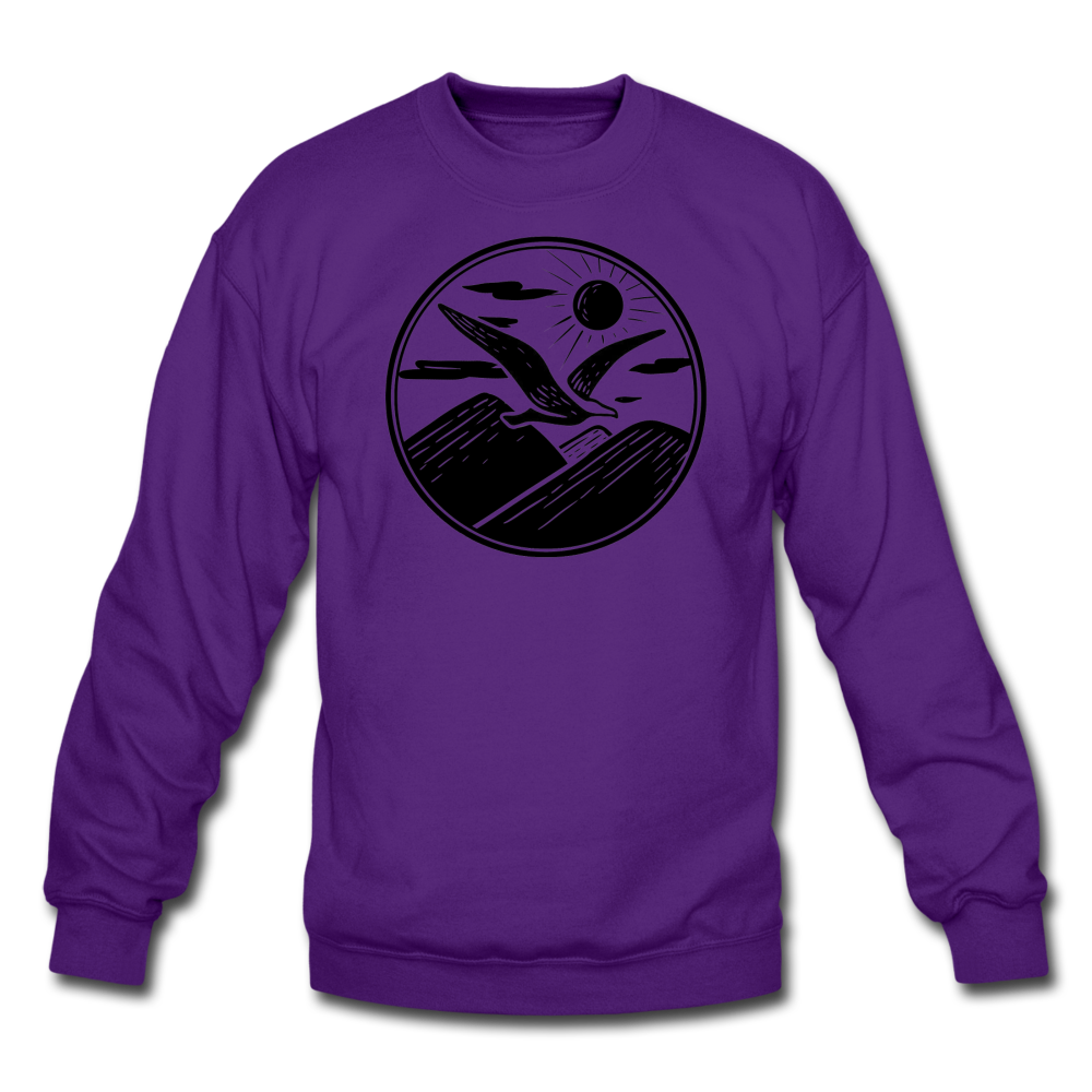 Albatross Circle Crewneck - purple