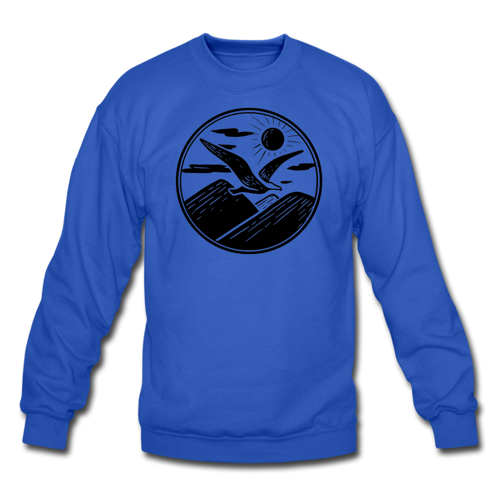 Albatross Circle Crewneck - royal blue