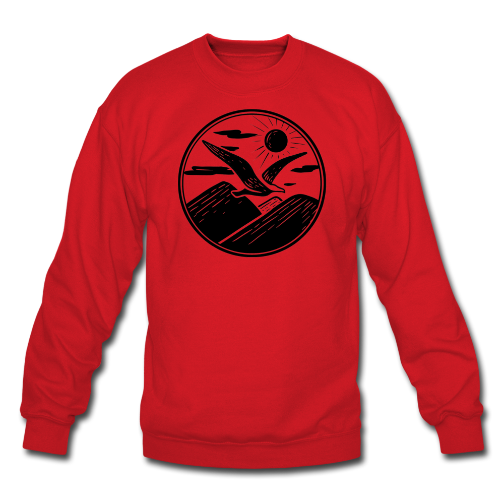 Albatross Circle Crewneck - red