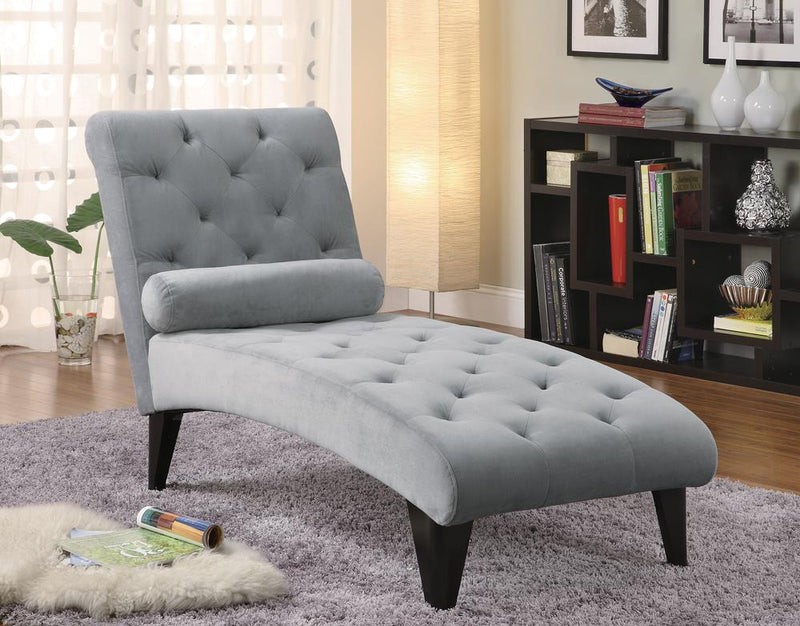 Transitional Grey Chaise