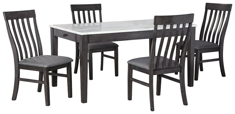 Luvoni Benchcraft 5-Piece Dining Room Set