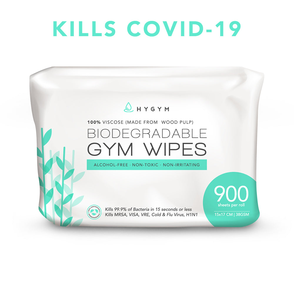 Biodegradable/Compostable Gym Wipes - HYGYM