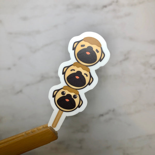 Curry (Pug) Fishballs Vinyl Sticker