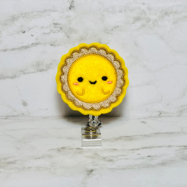 Egg Tart Badge Reel