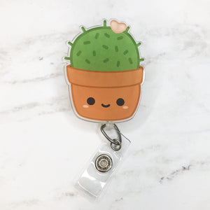 Acrylic Succulent Badge Reel