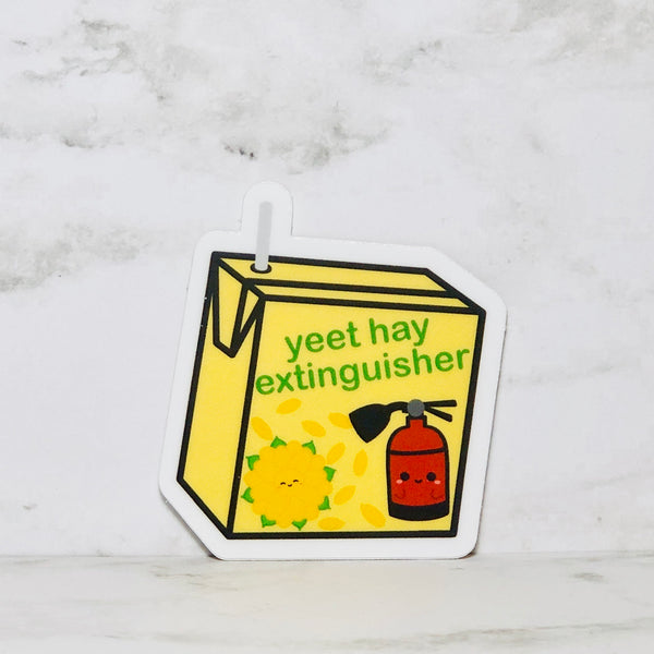 Chrysanthemum Tea (Yeet Hay Extinguisher) Vinyl Sticker