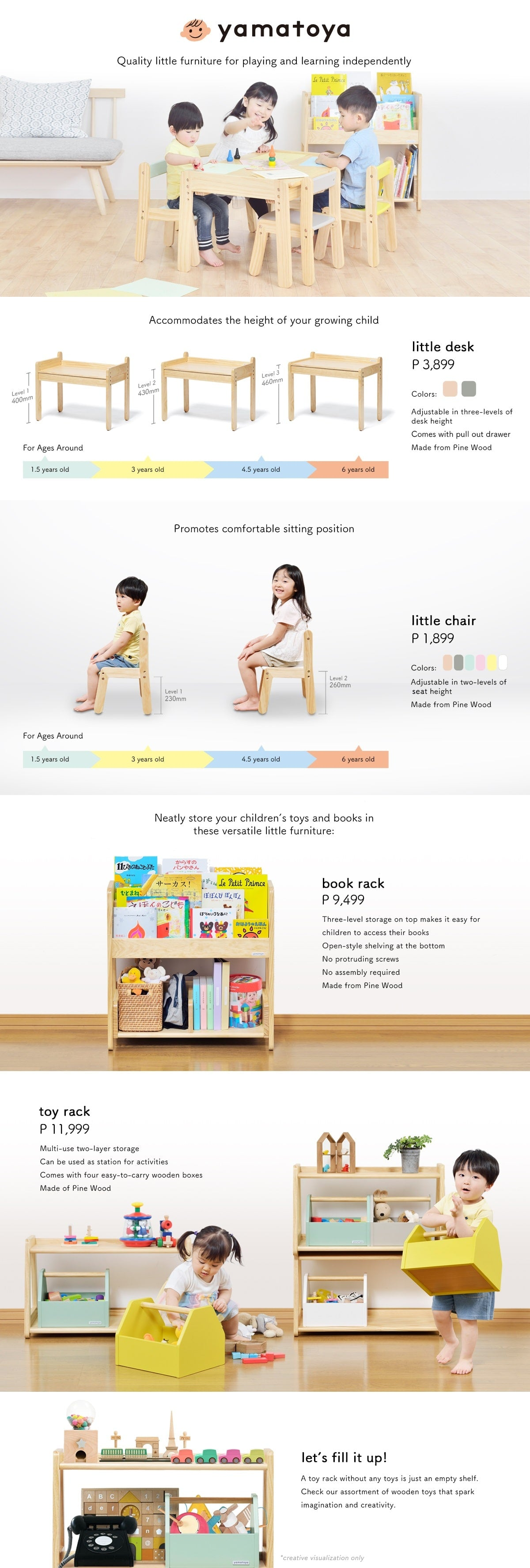Norsta Little Desk and Large Desk are the most age appropriate chair for 18 months to 6 years old