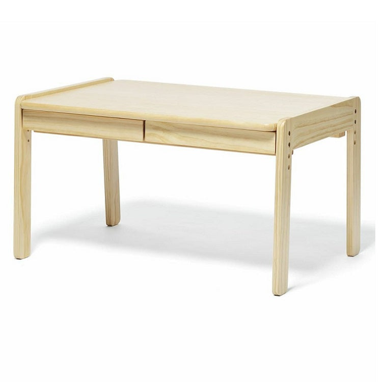 Yamatoya Norsta table is an adjustable table for toddles and kids ages 18 months to 6 years old. It comes with pull out drawer