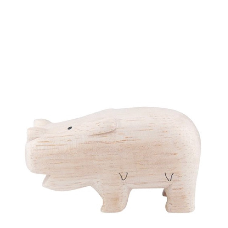 T-Lab. Pole Pole Wooden Hippos