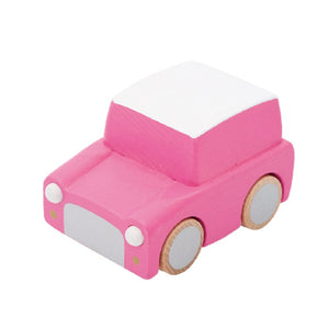 Kiko+ Kuruma (Pink) - Classic Wooden Wind-up Car