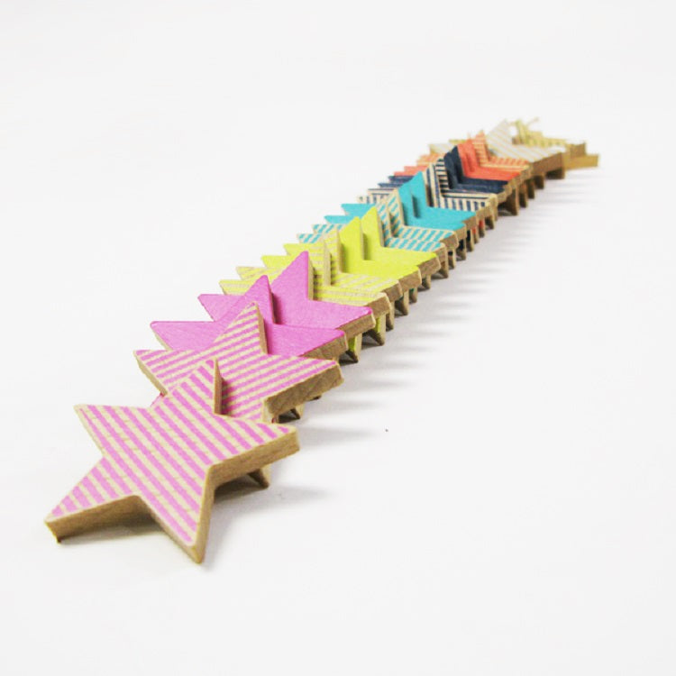 Kiko+ Tanabata -  Wooden Star Cookies