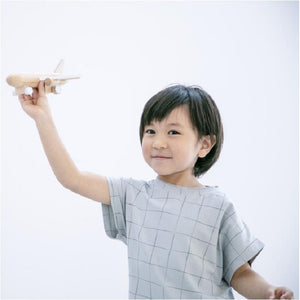 Kiko+ Hikoki Jet (White) - Wooden Wind-Up Jet Plane