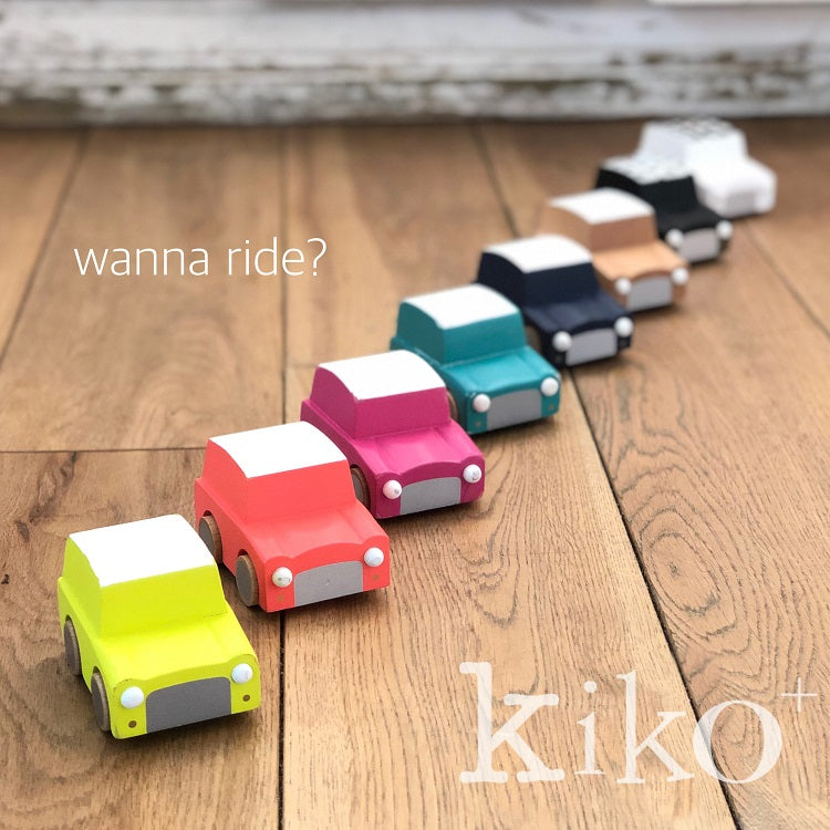 Kiko+ Kuruma (Orange) - Classic Wooden Wind-up Car